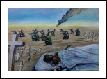 The Bloddy War 2, Paintings, Expressionism, Documentary, Canvas, Oil, Painting, By Berthold von Kamptz