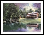 The Cabin, Architecture,Illustration,Paint ings, Fine Art,Realism, Architecture,Landscape, Acrylic, By Rebecca Suzanne Magar