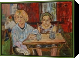 The Crazy Cafe, Paintings, Fine Art,Impressionism, People, Canvas, By Charles Freeman