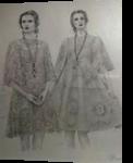 The Divine Sisters, Paper Art, Fine Art, Portrait, Pencil, By Terence Andrew Walton