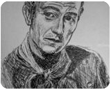 The Duke, Drawings / Sketch, Minimalism, Figurative,Historical,People,Still Life, Ink, By Matthew Scott Lannholm