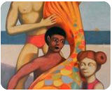 the great beauty, Paintings, Expressionism,Surrealism, Children,Daily Life,Seascape, Canvas,Oil,Pencil, By federico cortese