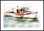 The Helen M, Paintings, Realism, Seascape, Watercolor, By William Clark