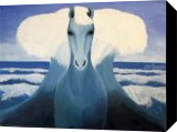 The horse of sea god, Paintings, Fine Art,Surrealism,Symbolism, Animals,Conceptual,Grotesque, Oil, By Andrew Kuzmin