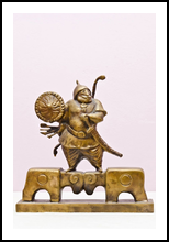 The invincible, Sculpture, Impressionism, Historical, Bronze, By ZAKIR AHMEDOV