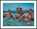 The Joke, Paintings, Fine Art,Realism, Anatomy,Daily Life,Erotic,Figurative,Humor,Nudes,People,Seascape, Canvas,Oil,Painting, By Richard Michael Ferrugio