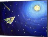 The Journey, Paintings, Fine Art, Cartoon,Celestial / Space,Children, Acrylic,Canvas, By Loretta Hon