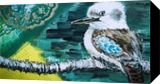 THE KOOKABURRA, Paintings, Modernism, Animals, Nature, Acrylic, Wood, By HSIN LIN