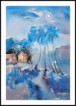 The landscape painting, Paintings, Abstract,Fine Art,Impressionism, Composition,Fantasy,Landscape,Nature, Canvas,Oil, By Suvarna Pandit Dheringe