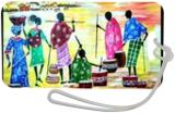The Maasai village market, Folk Art, Fine Art, Daily Life, Acrylic, By Smita Biswas