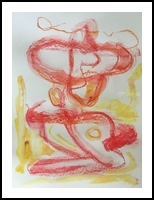 The mandolin player, Drawings / Sketch, Expressionism, 3-D,Portrait, Acrylic,Gouache,Pastel, By Dorota Zukowska