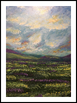 The Meadow, Decorative Arts, Fine Art, Landscape, Acrylic, By jennifer thuotte