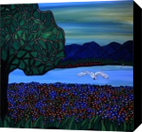 The Meadow Hunt, Paintings, Expressionism, Landscape, Acrylic, By Rachel Olynuk