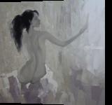 Mirror, Paintings, Fine Art,Realism,Romanticism, Decorative,Nudes,People, Canvas,Oil, By Ninh NguyenVu
