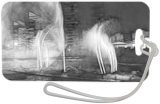 The musical fountain is in black and white, Digital Art / Computer Art, Pop Art, Landscape, Digital, By BENARY  IMAGE
