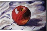 The Red Apple(acrylic on cardboard), Paintings, Fine Art, Still Life, Acrylic, By Victoria Trok