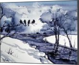 The River Watchman, Paintings, Fine Art, Animals, Painting, By james Allen lagasse