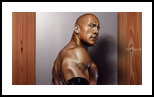 The Rock (Dwayne Johnson) Portrait painting in Oil, Illustration,Paintings,Video Art, Expressionism,Photorealism,Realism, Portrait, Oil, By Stefan Pabst