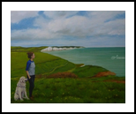 The Sea Watch, Paintings, Expressionism,Fine Art,Impressionism,Realism, Animals,Figurative,Landscape,People,Seascape, Canvas,Oil, By Jane Moore