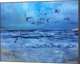 The Sea Waves Of Sylt, Paintings, Expressionism,Realism, Landscape, Canvas,Oil,Painting, By Berthold von Kamptz