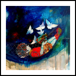 The swinging puppy ii, Paintings, Abstract,Expressionism,Fine Art,Impressionism,Modernism,Surrealism, Children,Conceptual,Figurative,Inspirational,Music,Nature, Acrylic,Canvas,Oil, By Shiv Kumar Soni