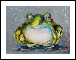 THE TOAD, Paintings, Realism, Animals, Fiber, By Lyubov Kuptsova