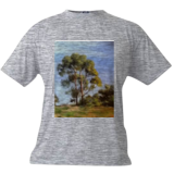 The Two Trees, Paintings, Impressionism, Landscape, Canvas,Oil, By Mason Mansung Kang