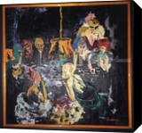 The Vixen Bar, Animation,Drawings / Sketch, Impressionism, Daily Life, Oil, By Charles Freeman