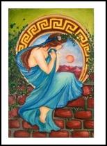 the wait. Greek, Paintings, Expressionism,Romanticism, Cartoon,Conceptual,Erotic, Painting, By Irina Bardita