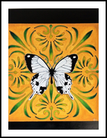 The white butterfly, Paintings, Symbolism, Decorative, Acrylic, By Lucyanne Driusi Terni