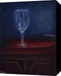 The Glass Cup, Paintings, Fine Art,Impressionism,Realism, Still Life, Canvas,Oil, By Mike Chaple