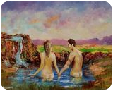 This is how we can cool it Baby, Paintings, Impressionism, Figurative, Canvas, By Louis Pretorius