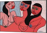 three nudes, Digital Art / Computer Art, Expressionism,Modernism, Nudes,People,Portrait, Digital, By Nebojsa Strbac