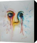 Through my eyes 2, Paintings, Expressionism, Portrait, Watercolor, By Defined by Art With Lauren