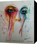 Through my eyes, Paintings, Expressionism, Portrait, Watercolor, By Defined by Art With Lauren