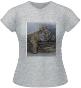 Tiger Cub Sleeping, Paintings, Expressionism,Fine Art,Realism, Animals,Children, Painting,Watercolor, By Kelly A Mills