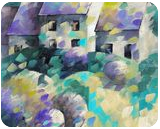 Tiny house 038, Paintings, Abstract,Fine Art, Landscape, Canvas, By Beatrice BEDEUR
