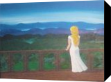 Top of the World, Paintings, Fine Art, Landscape, Acrylic,Canvas, By Loretta Hon