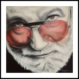 Touch of Gray, Paintings, Photorealism,Realism, Music,People,Portrait, Acrylic, By Darren Robinson