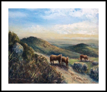 Towards Kings Tor, Paintings, Impressionism, Landscape, Oil, By David Mather