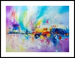 TRAVEL OF COLOR, Paintings, Abstract, Fantasy, Canvas,Oil, By Lyubov Kuptsova