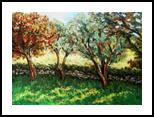Trees, Paintings, Impressionism, Landscape, Acrylic, By Kristina Valic