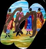 Tribal bonding, Paintings, Fine Art, Daily Life,Figurative,People, Acrylic, By Smita Biswas