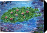 Tribute to Monet, Paintings, Impressionism, Landscape, Acrylic, By Bernard Victor