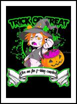 Trick or Treat, Digital Art / Computer Art, Fine Art, Cartoon, Digital, By Victoria Bravo