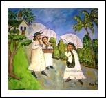 Tropical Rain, Paintings, Primitive, Daily Life, Acrylic, By Lydia Matias