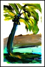 Tropics, Paintings, Impressionism, Tropical, Painting, By fred wilson