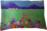 Tulip Fever, Paintings, Expressionism,Fine Art,Impressionism, Floral,Landscape, Acrylic,Mixed, By Angie June Livingstone