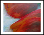Tulip Triptych (#1 of 3), Paintings, Abstract, Botanical, Acrylic, By Jane Adrianson