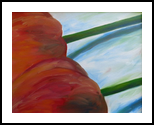 Tulip Triptych (#2 of 3), Paintings, Expressionism, Botanical, Acrylic, By Jane Adrianson